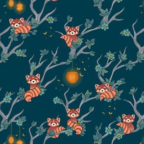 Red Pandas at Night large scale ©Jennifer Garrett