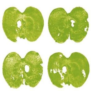apple prints - green on white