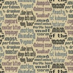 Shakespearean Insults 5 Smaller Scale © Jennifer Garrett