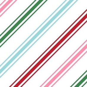 christmas candy cane stripes multi LG