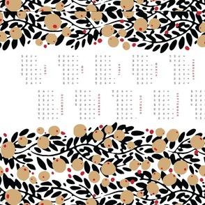 garland calendar towel