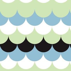 Waves blue green