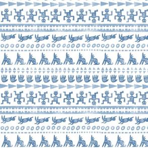 bleached blue petroglyphs