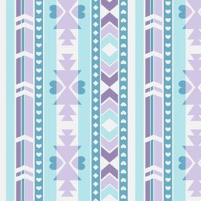 Southwest (Lilac & turquoise) - by Kara Peters