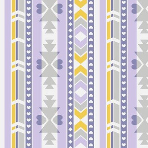 Southwest (Lilac, gray, yellow) - by Kara Peters