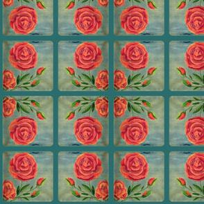Rose on Blue 2