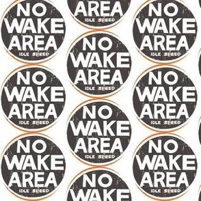 No Wake Area