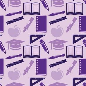 Back to School - 4in (purple)