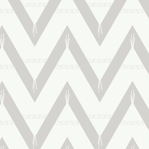 Teepee 1: large, grey and white