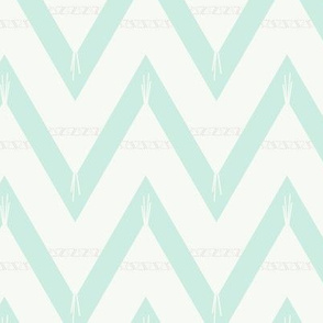 Teepee 2: large, mint and white
