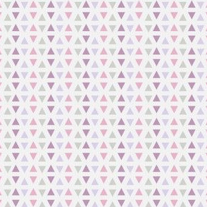 Southwest Triangles (Lilac & pink) - by Kara Peters
