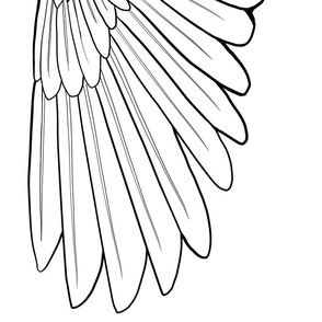 One Yard Simple Feather Wings