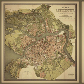 St Petersburg map, small