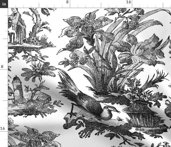 Chinoiserie Toile Black And White