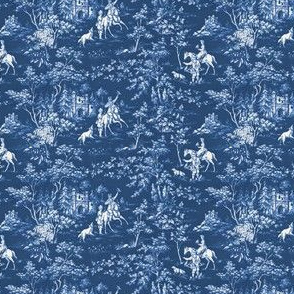 The Grand Hunt Toile ~ Lonely Angel Blue and White