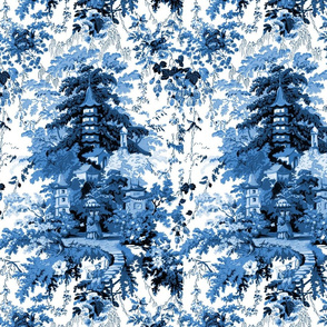 Chinoiserie Palace ~ Lonely Angel Blue and White