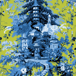 Chinoiserie Palace ~ Lonely Angel Blue and White on Usurper