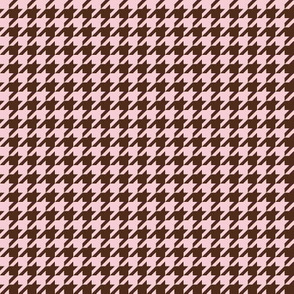 The Houndstooth Check ~ Pink & Brown ~ Wee