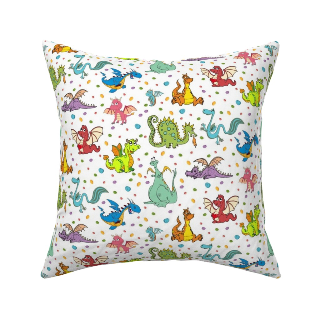 Catalan Throw Pillow featuring Dragons n Rocks by parisbebe