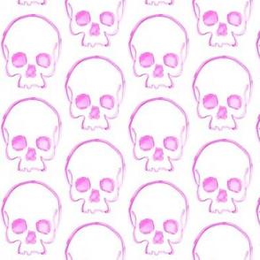 Light Fuschia Skull Print