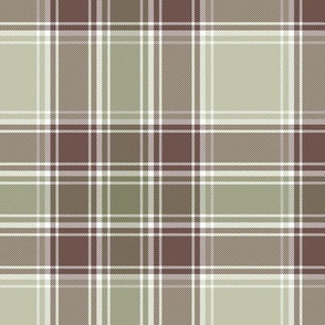 "MacDonald hunting tartan, 6"", weathered colors"