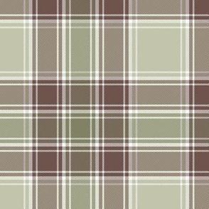 "MacDonald hunting tartan, 6"", weathered colors"