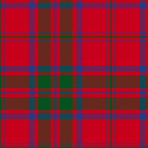 "MacDonald red tartan - 6"" modern colors"