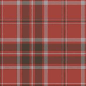"""MacDonald red tartan, 6"""",  weathered colors"""