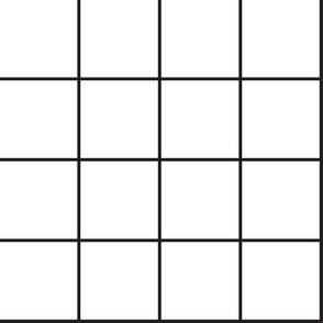 Black and White grid-medium weight