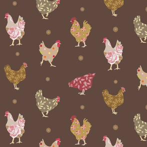 Busy Chickens - Mocha