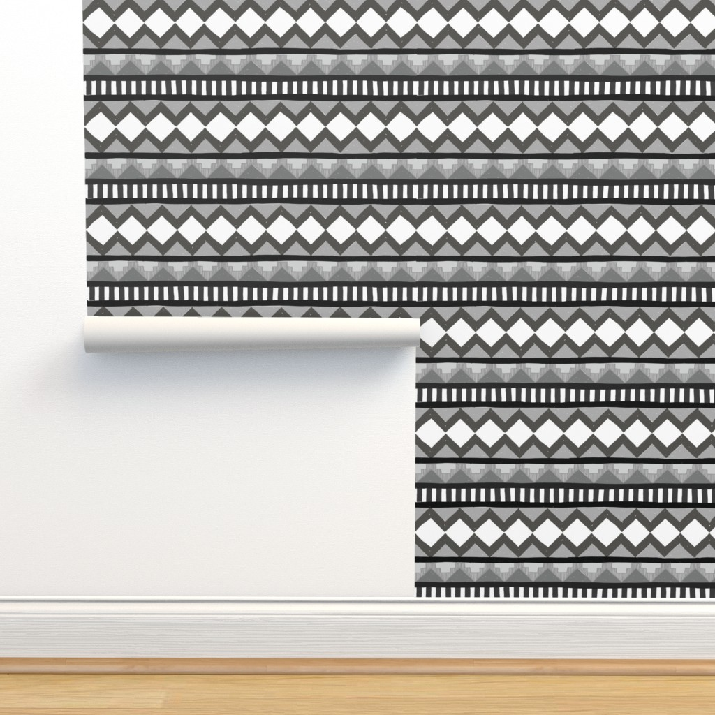 Isobar Durable Wallpaper featuring Ugly 80's Sweater in Gray by jesseesuem