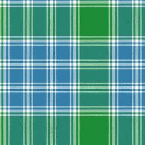 "MacDonald, Lord of the Isles tartan, 6"" blue-green"