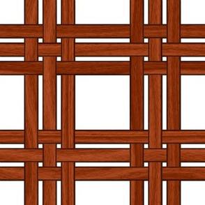 Wicker Weave ~ Mahogany