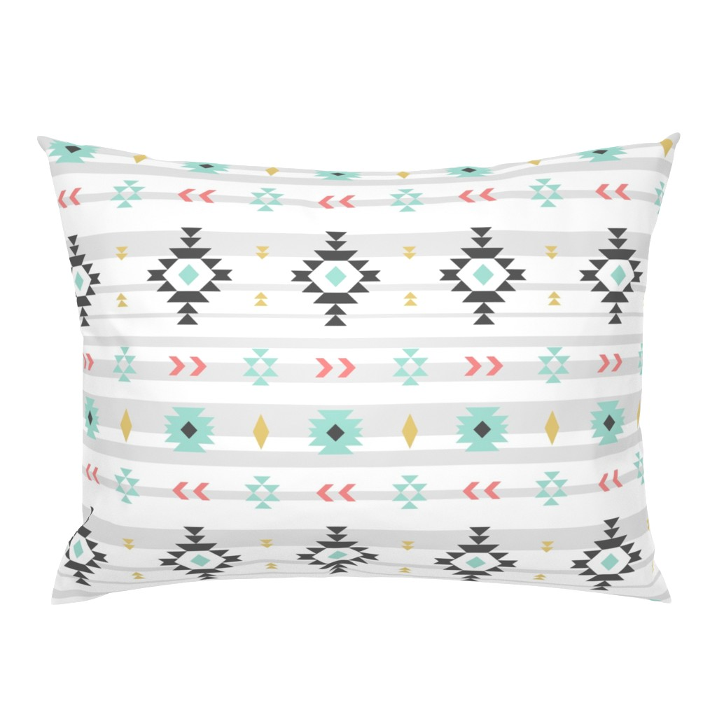 Campine Pillow Sham featuring Southwest Baby Bedding by sierra_gallagher