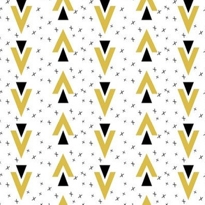 chevron triangle // mustard plus sign kids nursery baby