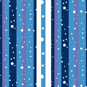 Winter blues stripes