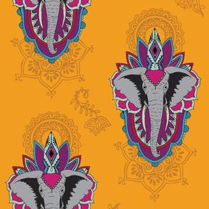 Elephants in Saffron