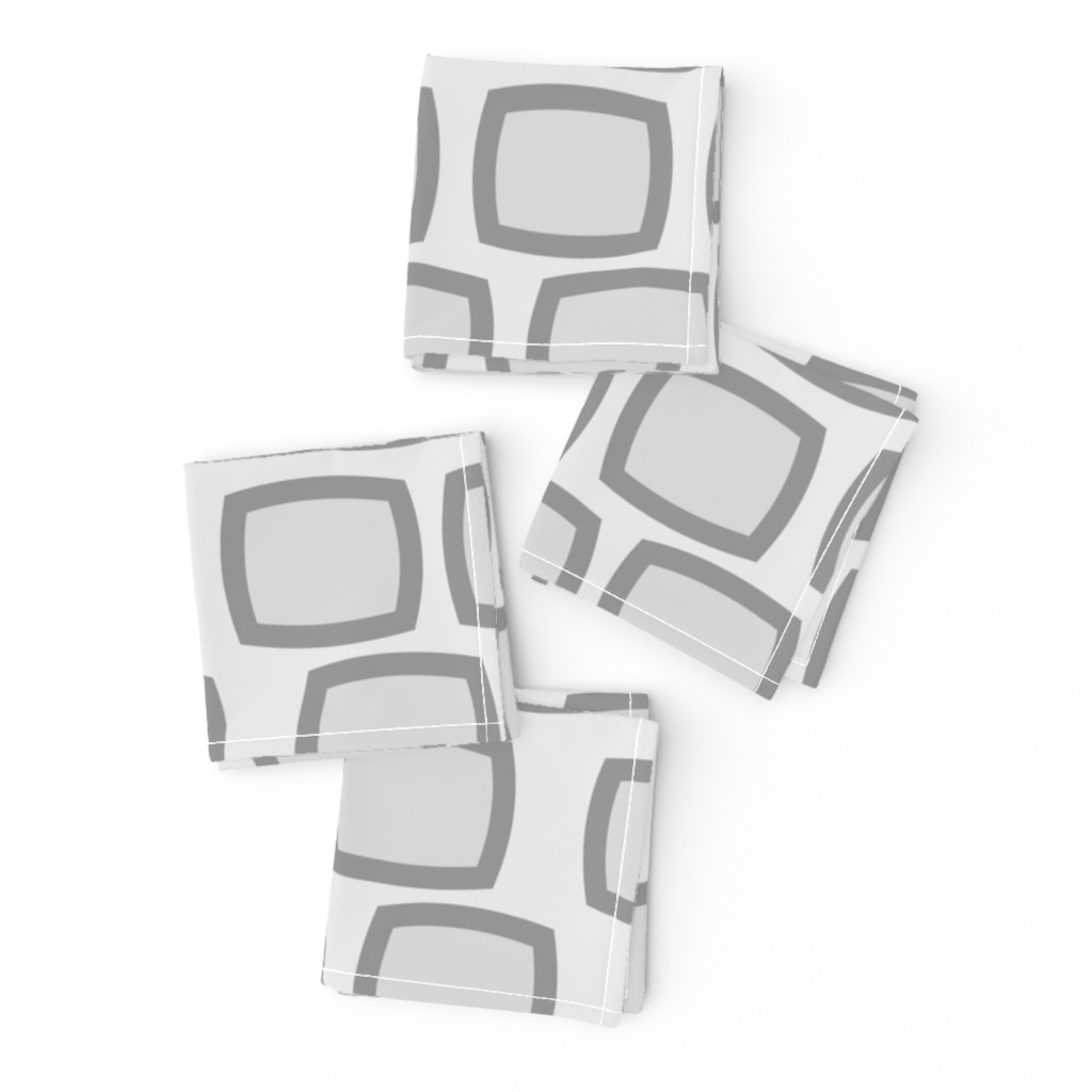 Frizzle Cocktail Napkins featuring Mid-Century Modern Geometric by hot4tees_bg@yahoo_com