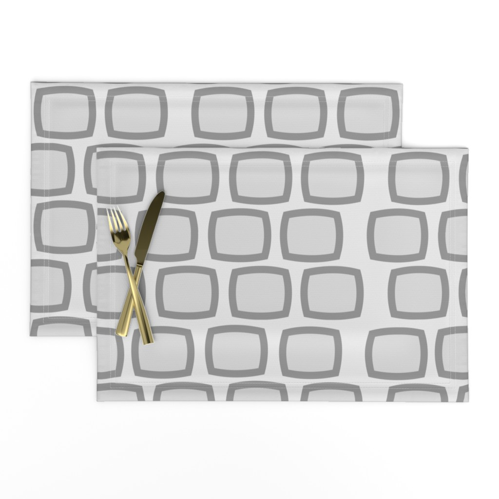 Lamona Cloth Placemats featuring Mid-Century Modern Geometric by hot4tees_bg@yahoo_com