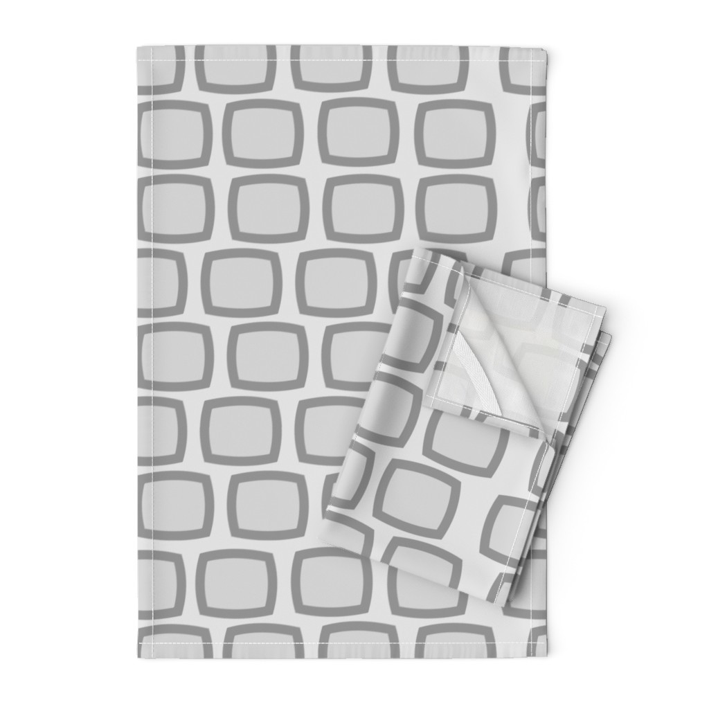 Orpington Tea Towels featuring Mid-Century Modern Geometric by hot4tees_bg@yahoo_com