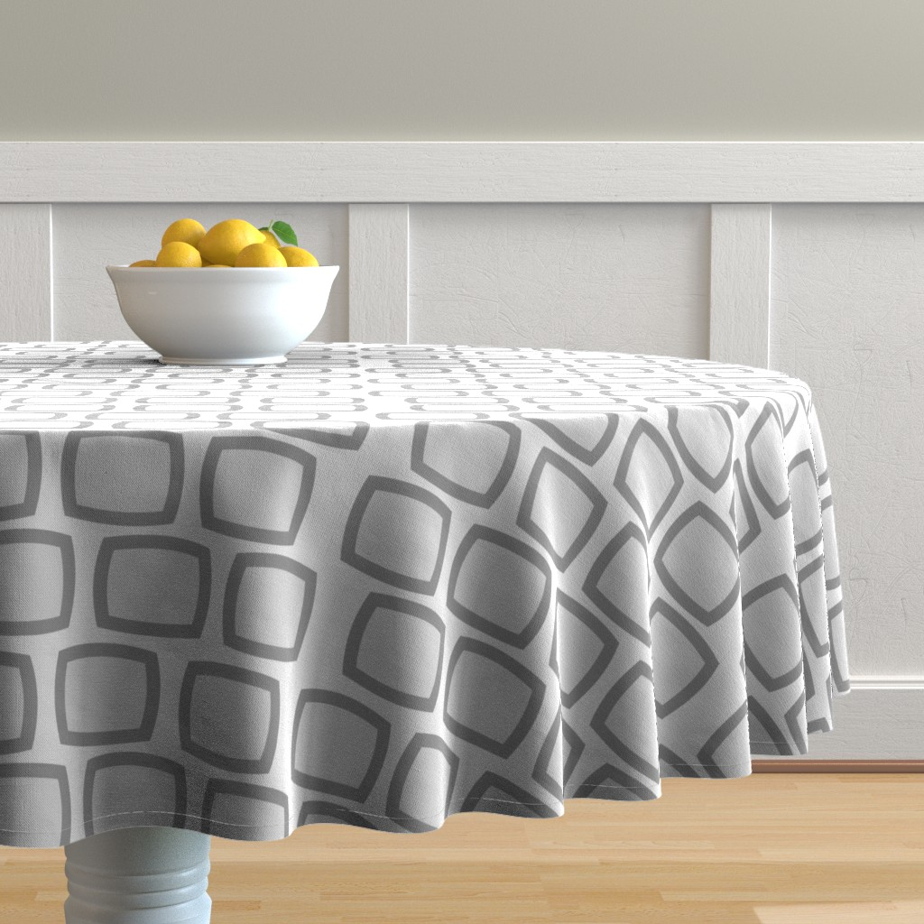 Malay Round Tablecloth featuring Mid-Century Modern Geometric by hot4tees_bg@yahoo_com