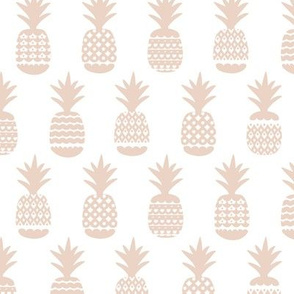 Soft ananas gender neutral beige soft pastel geometric pineapple fruit summer beach theme illustration pattern