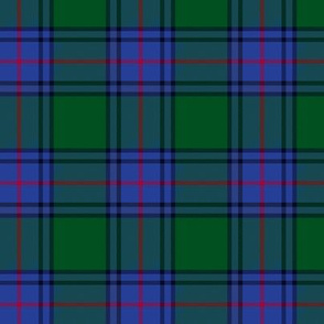 "Shaw tartan, 3"" bright modern colors"