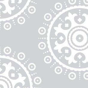 mod baby » suzani white on grey LG