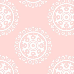 mod baby » suzani white on coral