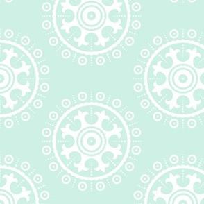 mod baby » suzani white on mint