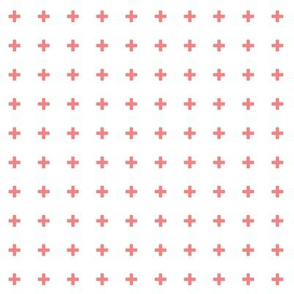 mod baby » tiny crosses coral
