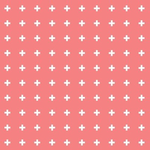 mod baby » tiny crosses on coral
