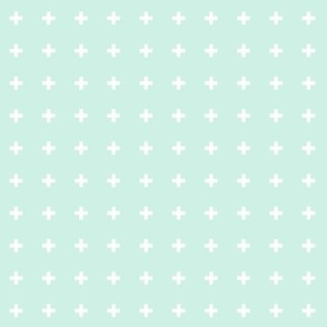 mod baby » tiny crosses on mint light