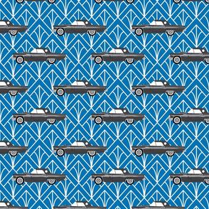 thunderbird - blue diamond print
